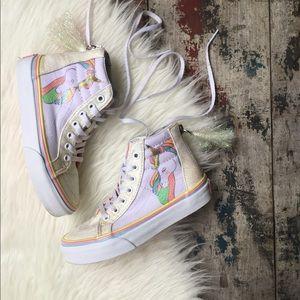 VANS sk8-hi unicorn 🦄 shoes sz 12 kids